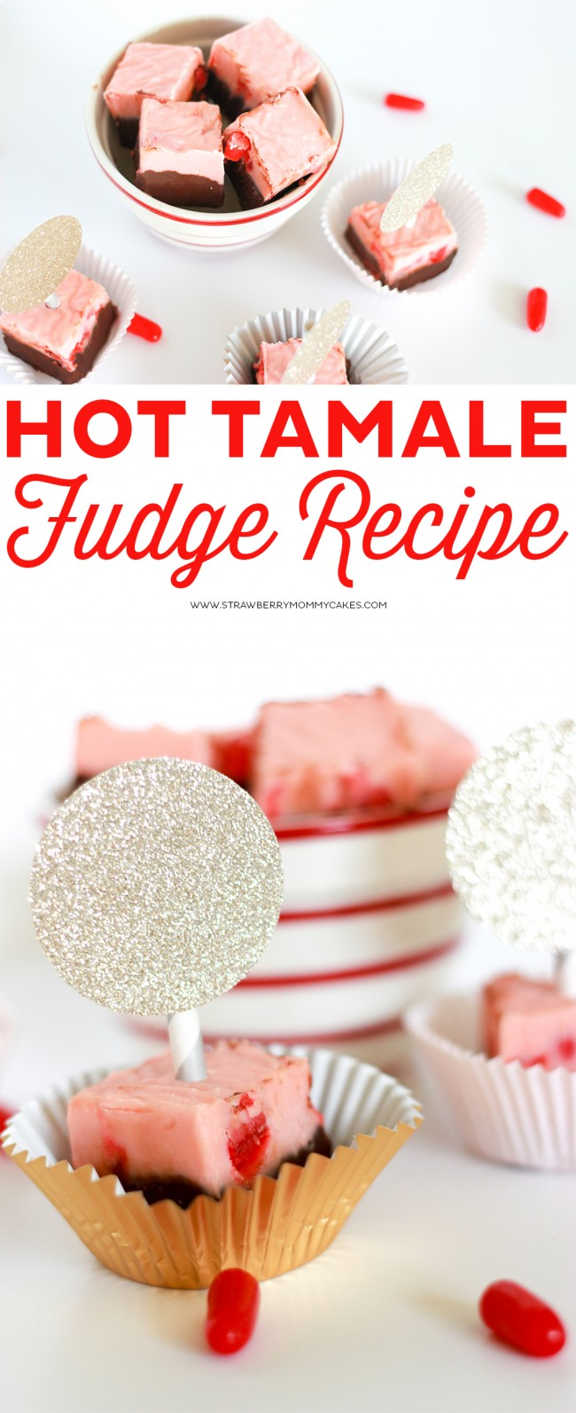 This Hot Tamale Fudge Recipe is an amazingly delicious Valentine's Day Treat! Plus, you'll love all the other Valentine's Day desserts from 11 other Creative Foodies!