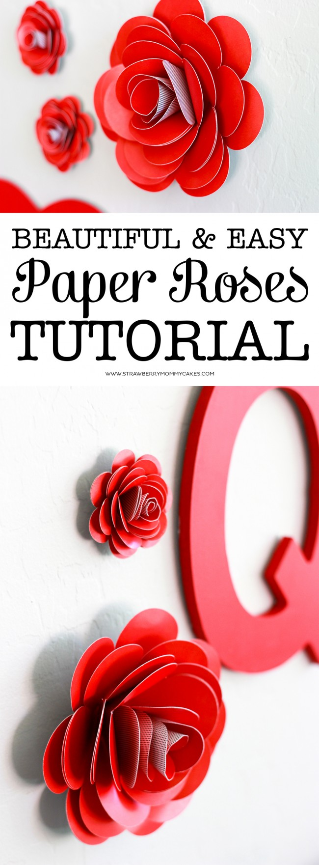 How to make a paper rose long pin collage