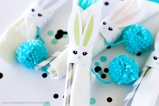 How to make Printable Easter Bunny Napkin Holders. Kids would love these for their Easter Place Settings!