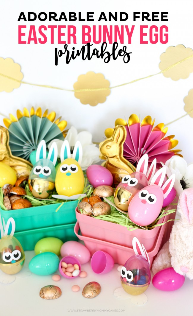 Download these Adorable and FREE Easter Bunny Egg Printables to create the perfect Easter basket. Your kids will love these adorable little Easter Egg Bunnies!