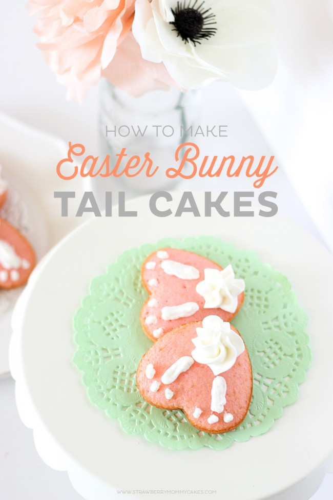 These are the cutest little Bunny Tail Cakes with the most light, fluffy frosting! You can be a novice cake decorator (like me) and still make some pretty cute cakes!