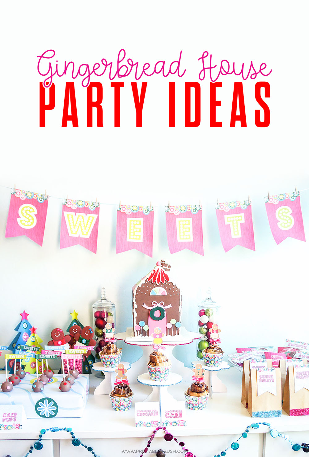 So many fun Holiday party ideas with this Gingerbread House Party!