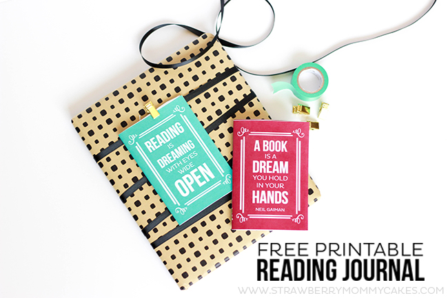 This Free Printable Reading Journal also works as a gift tag! Wrap up a book, attach the reading journal and track your child