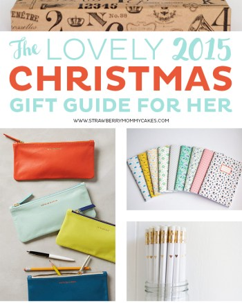 Give your friend the perfect gift this season with the LOVELY 2015 Christmas Gift Guide For Her!