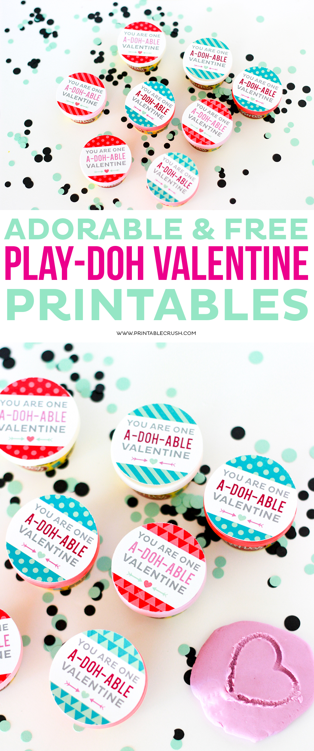 image regarding Play Dough Valentine Printable identified as Lovely and No cost Engage in-doh Valentine Printables - Printable
