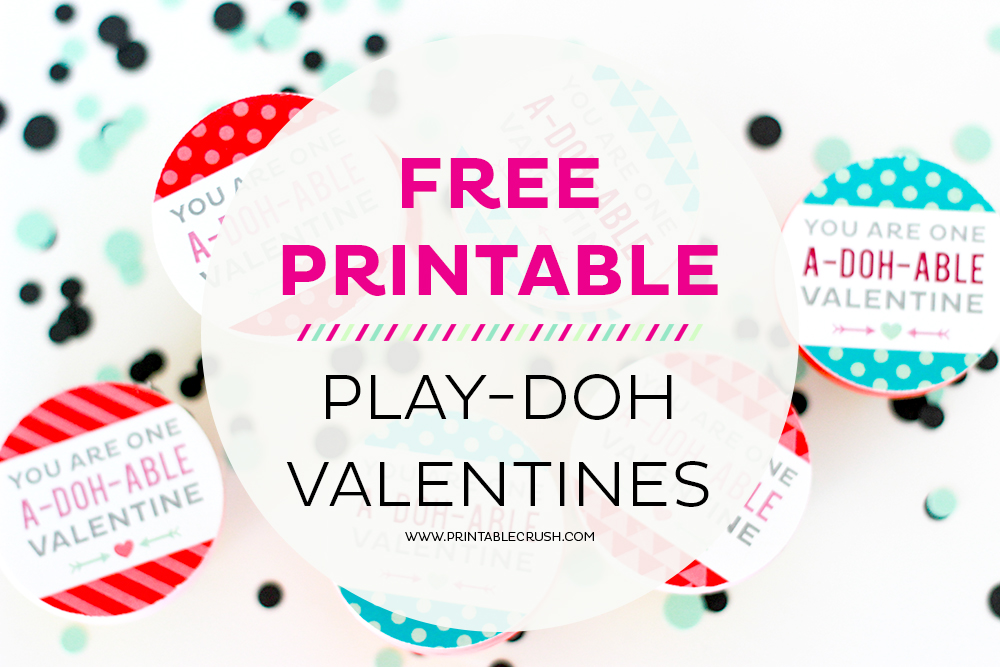 Adorable And FREE Play Doh Valentine Printables
