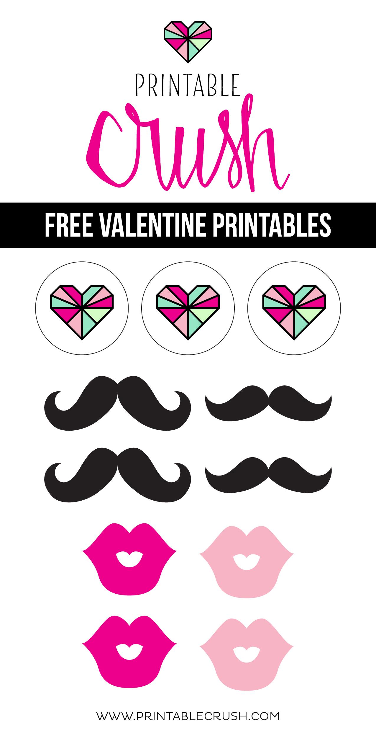 Free Valentine Printables From Printable Crush
