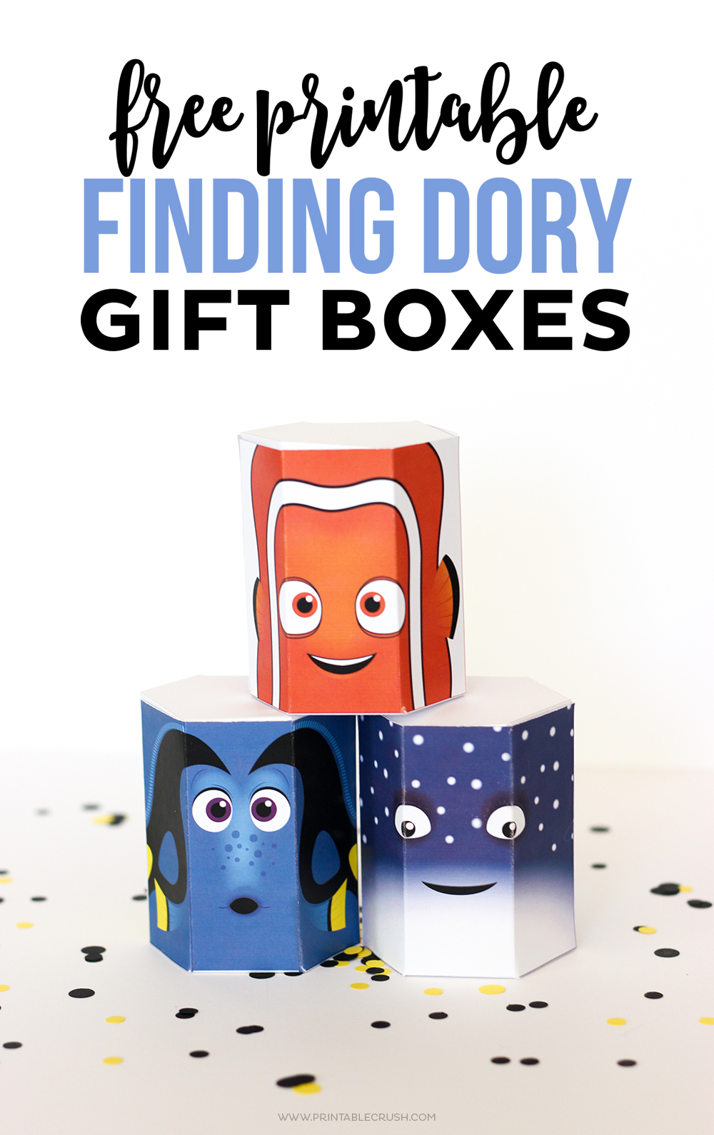 These FREE Finding Dory Printable Gift Boxes are perfect for the little Finding Nemo fan in your life. You can fill them with treats, presents or cute Tsum Tsums!