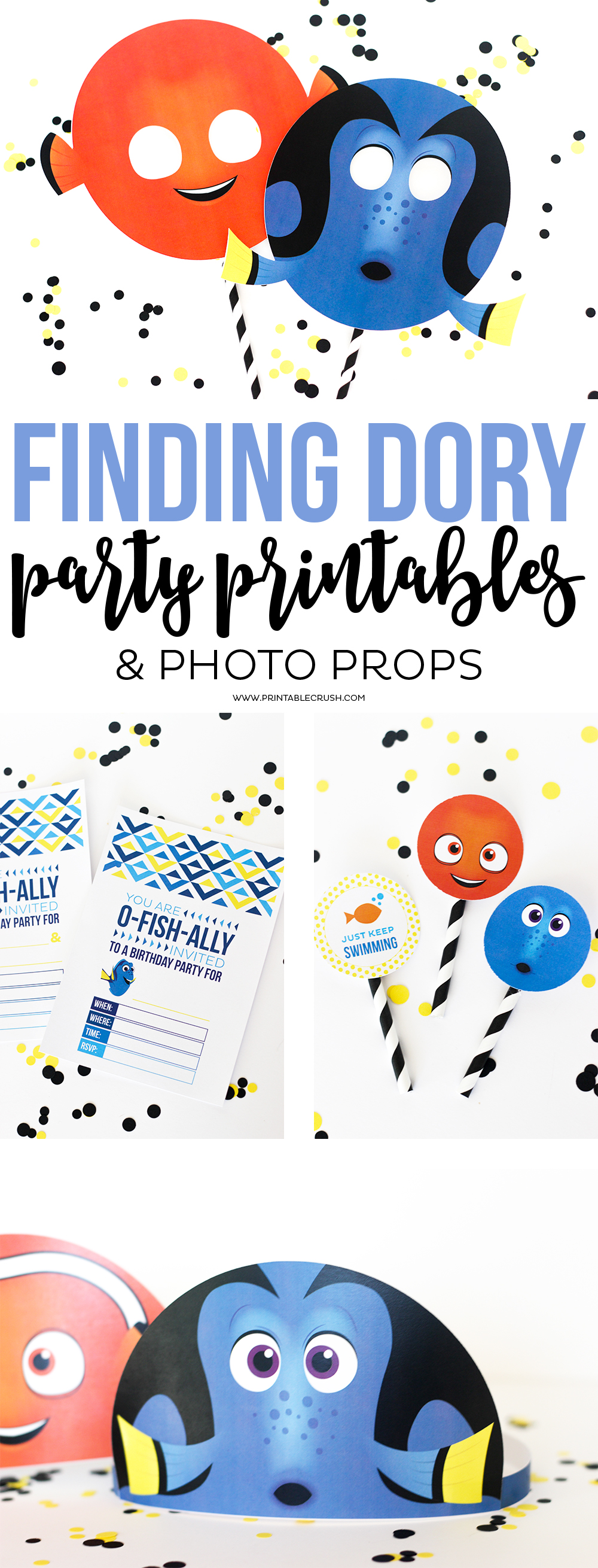 Download these adorable and FREE Finding Dory Party Printables for your next party! The kids will love to take them home as party favors!