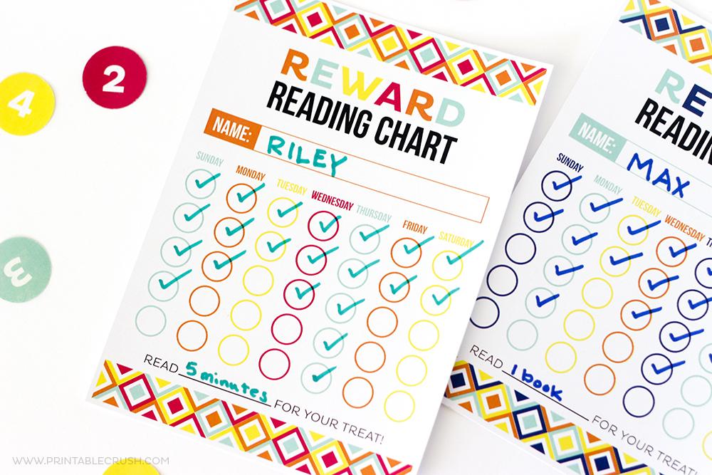 photograph about Reward Chart Printable known as Totally free Printable Advantage Reading through Chart - Printable Crush