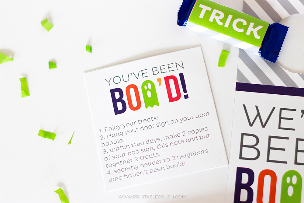 graphic about Boo Printable called Totally free Printable Youve Been Bood Halloween Package - Printable Crush