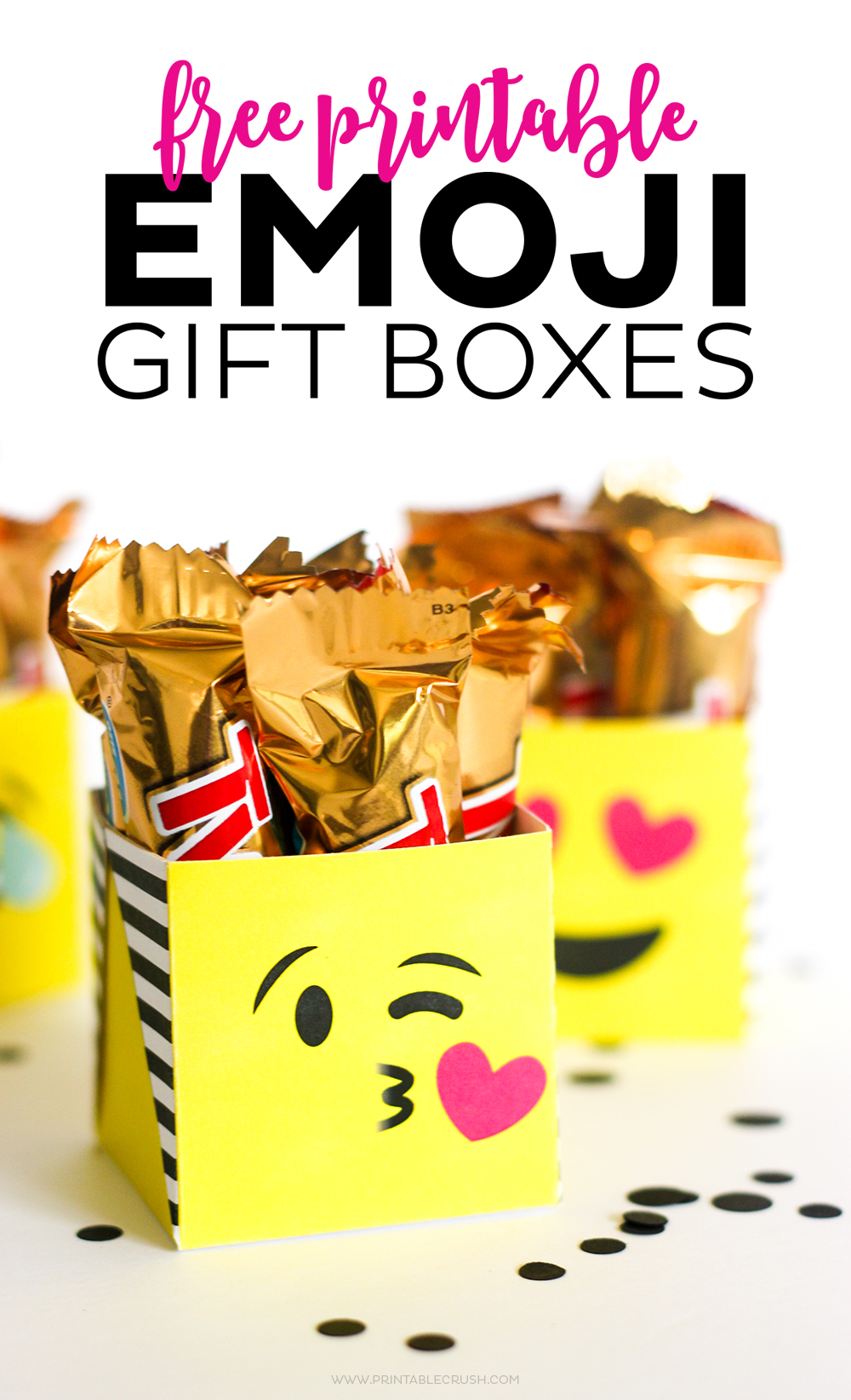 Close up of kissing emoji gift box, perfect for emoji gifts