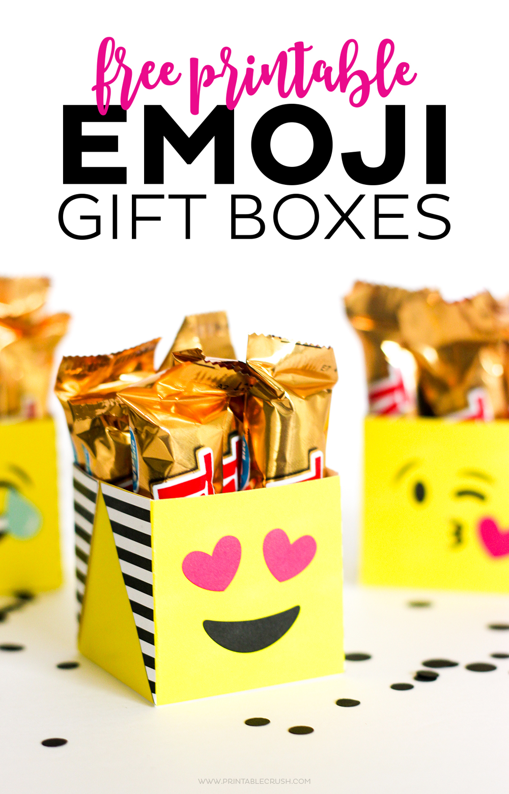 Emoji Gifts - Package Them Using My FREE Printable Emoji Gift Boxes