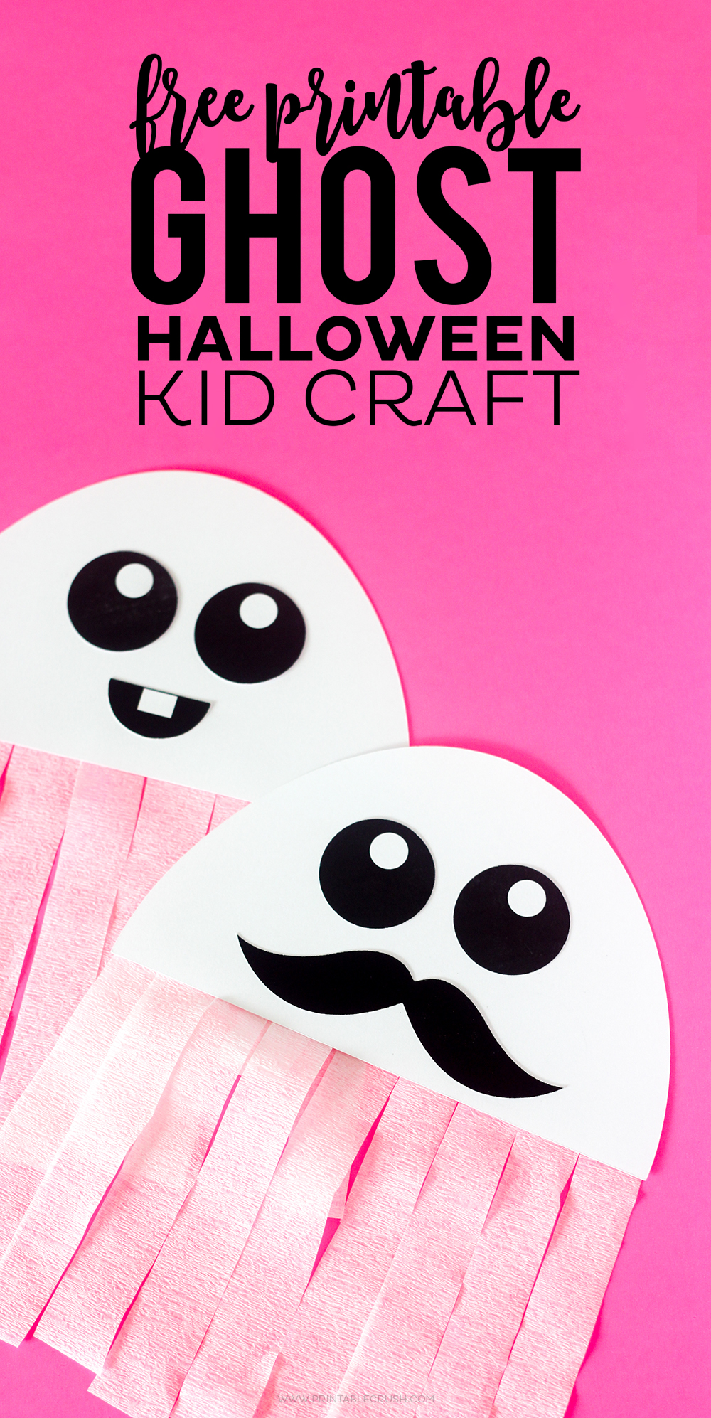 image regarding Halloween Craft Printable referred to as Free of charge Printable Ghost Halloween Craft - Printable Crush