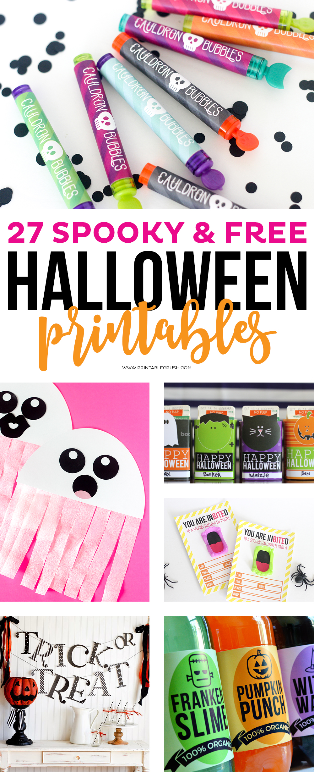 I have rounded up 27 SPOOKY AND FREE HALLOWEEN PRINTABLES to help you get ready for everything Halloween! I have included fun crafts, games, adorable tags, invitations, and more!