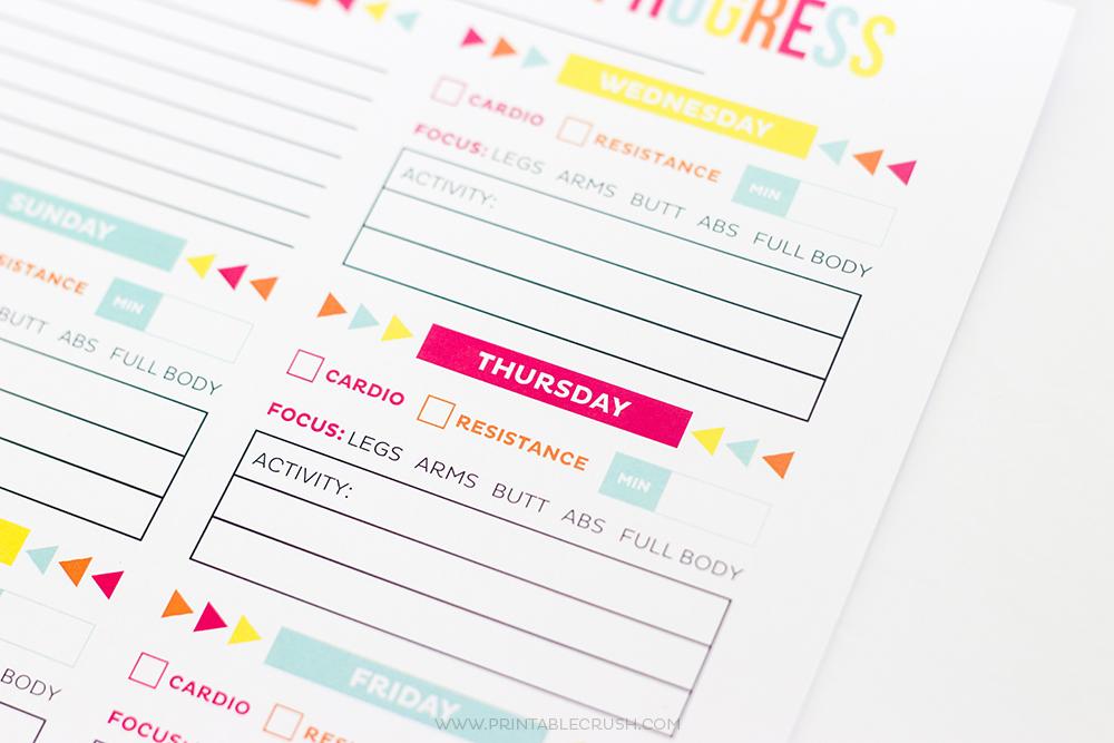Workout Calendar - FREE Printable Schedule/Progress Sheets