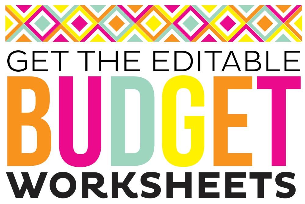 Editable Budget Sheets