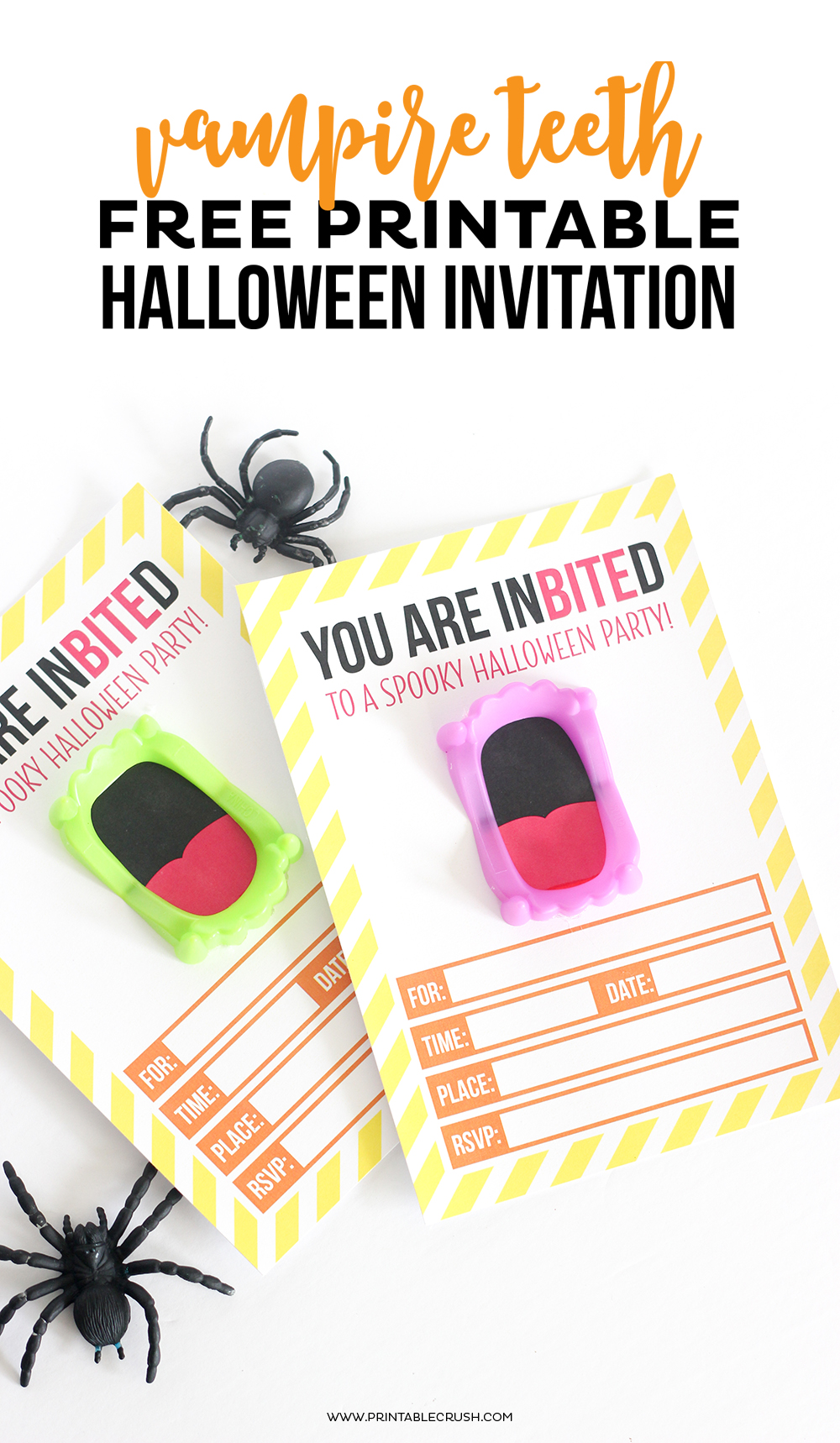 graphic relating to Halloween Invitations Printable named Absolutely free Printable Vampire Halloween Invitation - Printable Crush