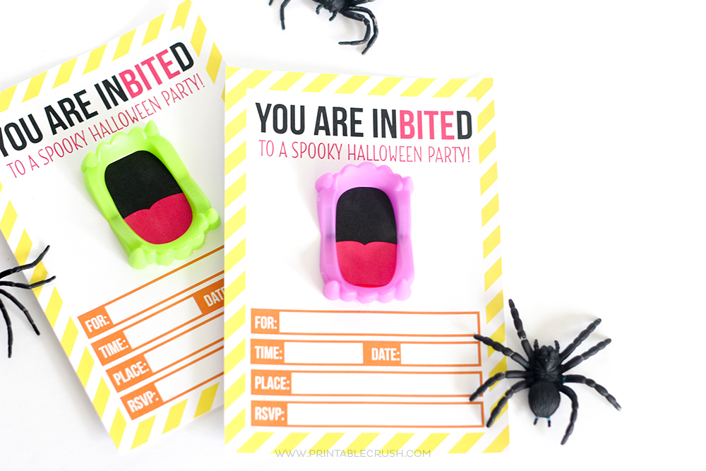 Download this FREE Printable Vampire Halloween Invitation for your Halloween Party!