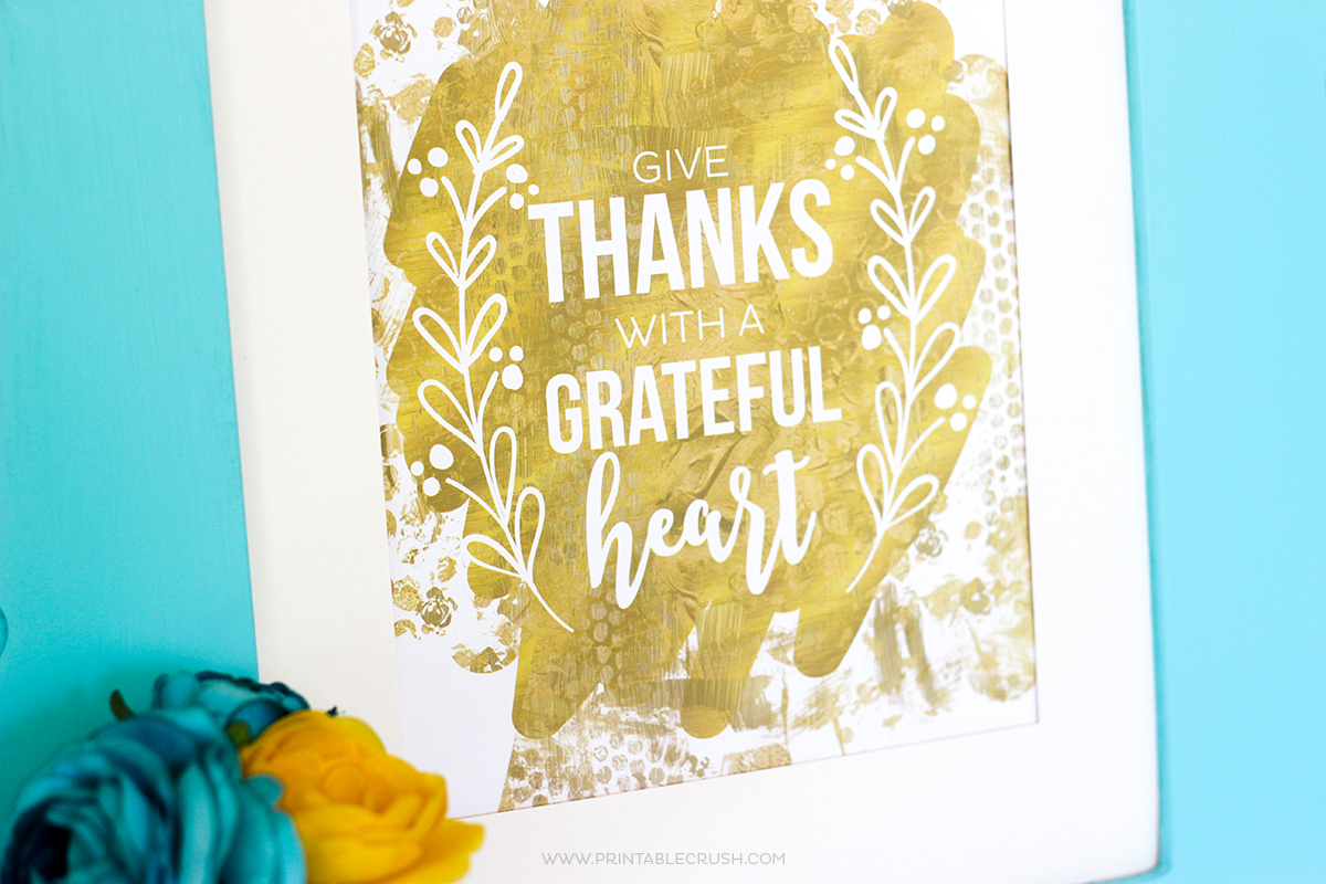 Free Thanksgiving Printable Word Art
