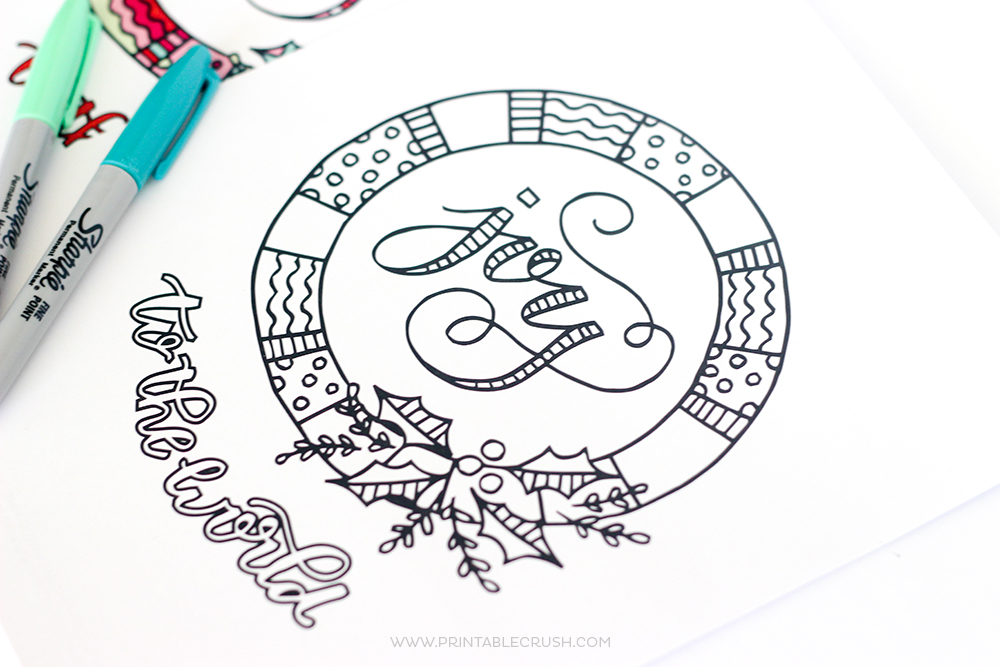 Free Joy To The World Christmas Coloring Page Printable Crush