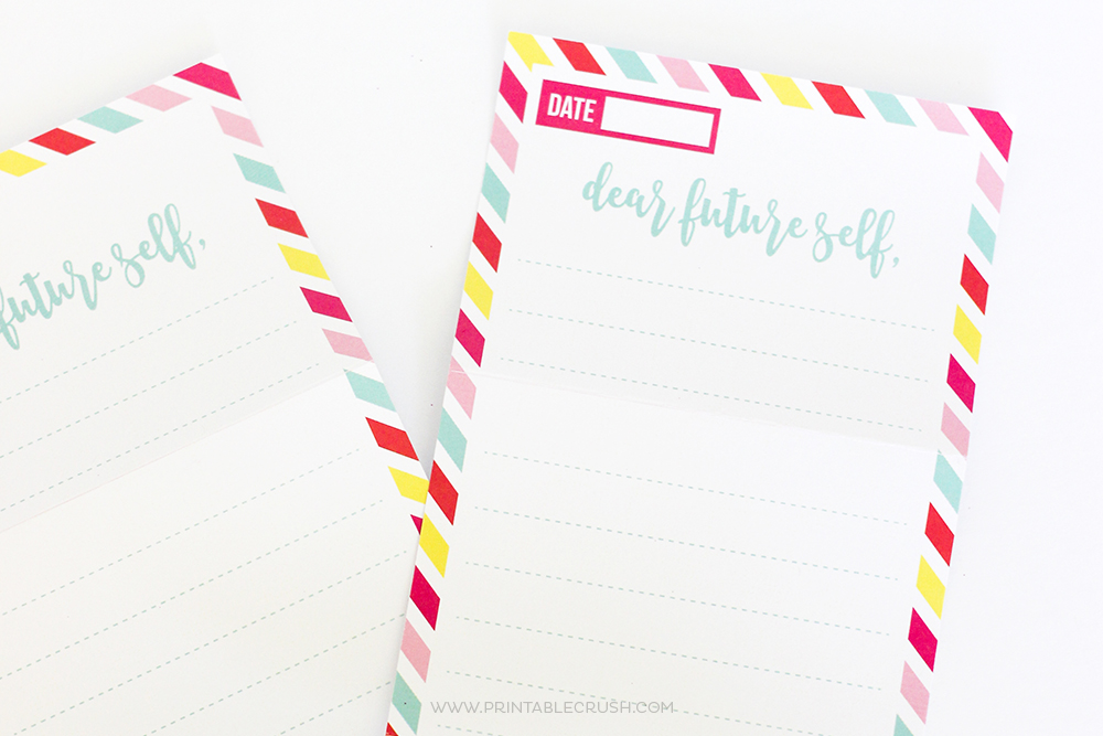 Download this FREE Printable New Year's Resolution Letter and Envelopes and write your goals for the year. Don't open until next year and see what all you achieved in one year!