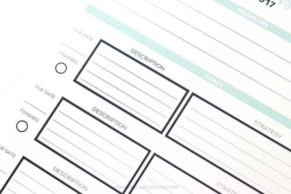 graphic about Goal Tracker Printable known as 2017 Very simple Printable Calendar and Intent Planner - Printable
