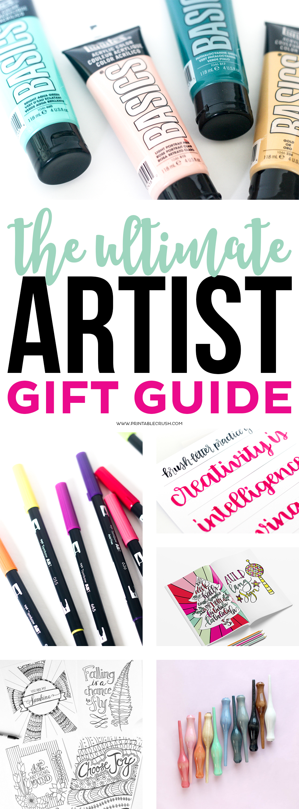 The Ultimate Artist Gift Guide - Printable Crush