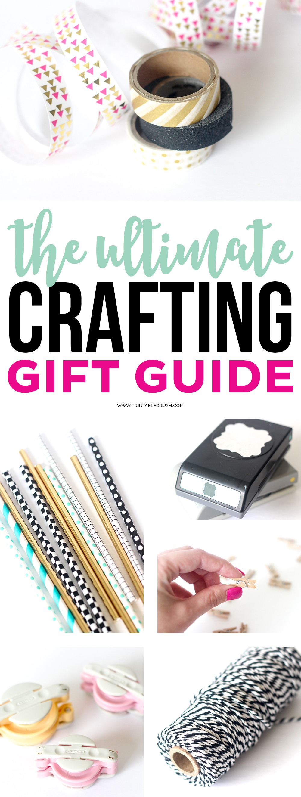 Check those items off your Christmas list using this Ultimate Crafting Gift Guide! Find ideas for printables, party planning, DIY projects and more!