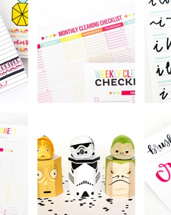 2016 was full of Printable gift boxes, hand lettering tutorials and printable organization worksheets! You LOVED these posts from the past year!