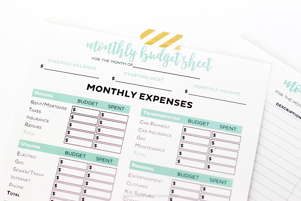Free Printable Business Budget Worksheets