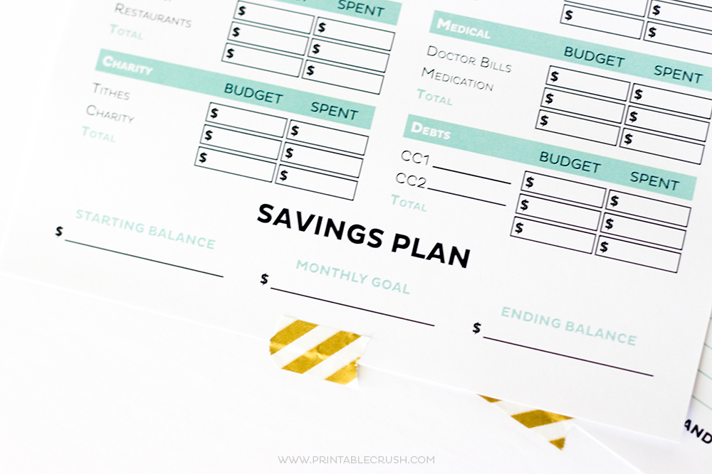 Get your finances in order with these Simple FREE Printable Budget worksheets! Includes monthly budget and expense sheets so you can easily keep track of your money!