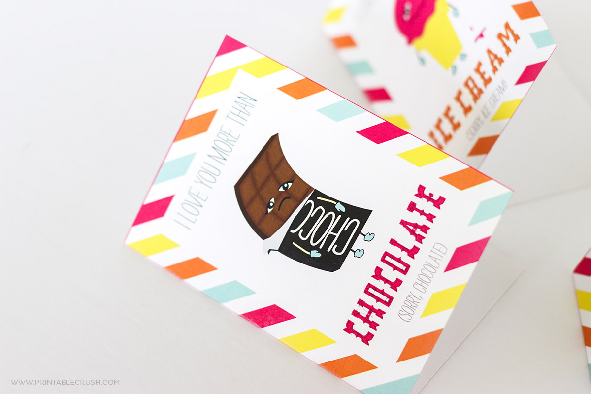 Closeup of chocolate funny Valentine card