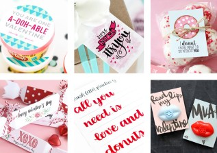 I have rounded up 27 Fun and FREE Valentine Printables! Everything from adorable gift tags, candy and non-candy Valentine's to pass out at school, a brush lettering practice sheet and lots more!