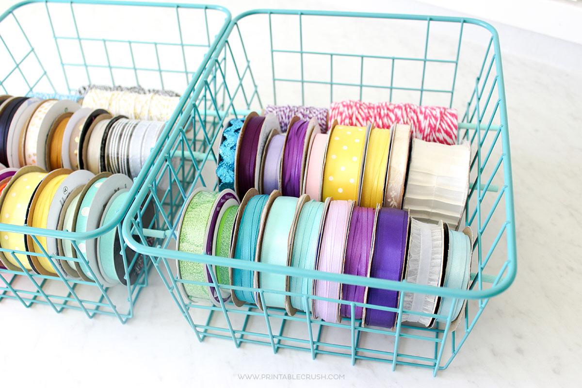 Easy Diy Ribbon Holder For Mess Free Ribbon Storage