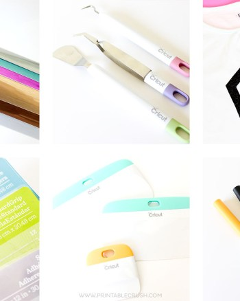 Looking to craft with a Cricut Explore Air, but don't know where to start? I've listed the MOST Useful Cricut Supplies and Accessories so you can start creating!