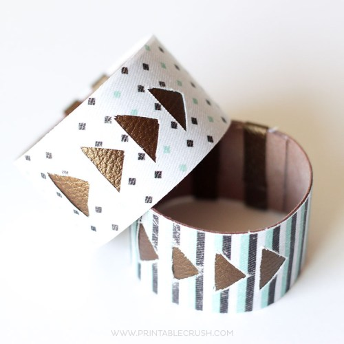 White faux leather bracelet