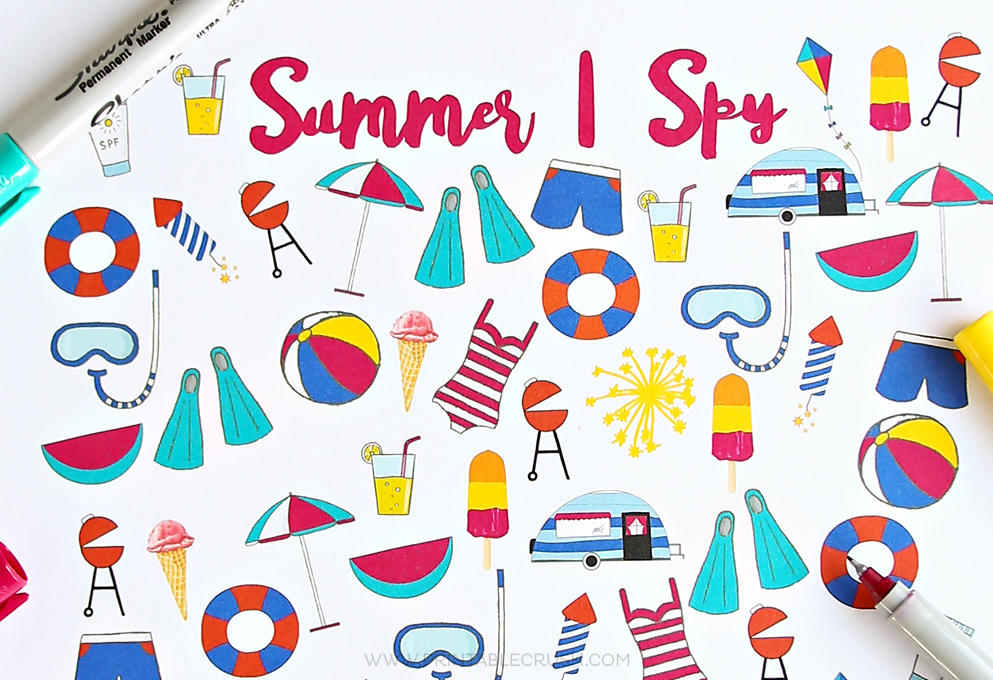 image about I Spy Printable named No cost Summertime I Spy Printable - Printable Crush