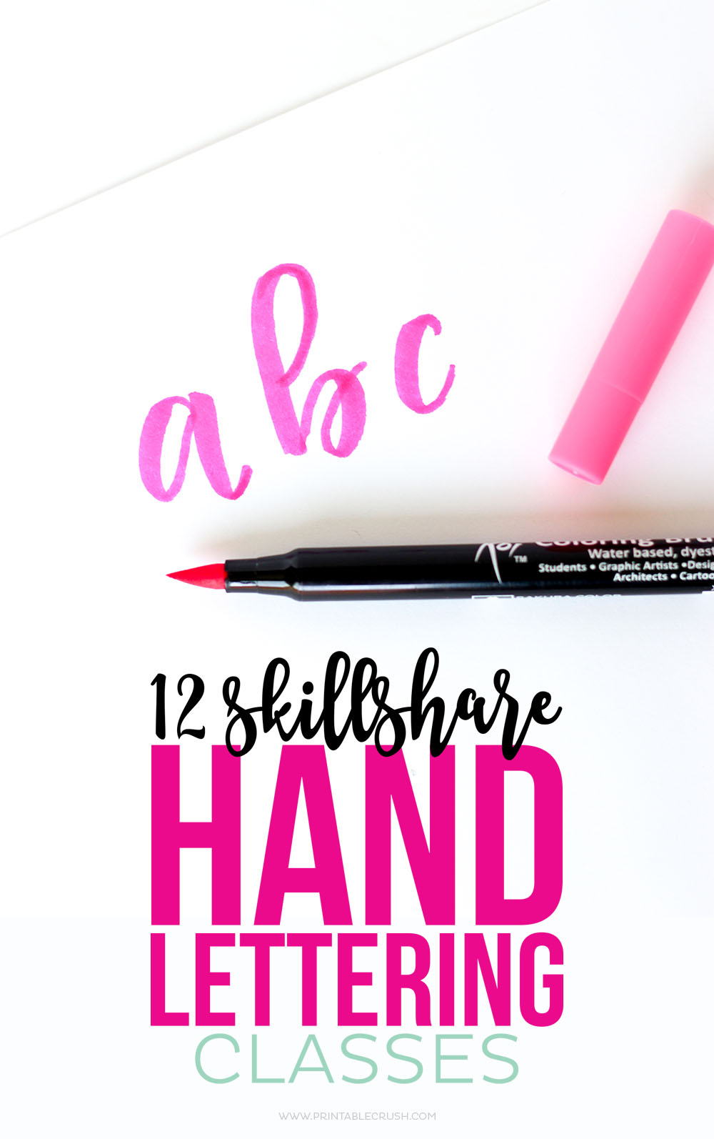 From basic lettering to finished products, learn new Hand Lettering Skills with these 12 Skillshare Classes!