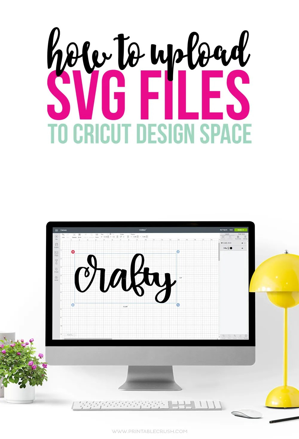 How to upload an SVG File to Cricut Design Space long pin