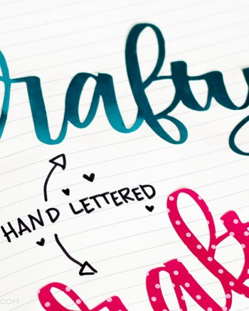 White paper with hand lettering