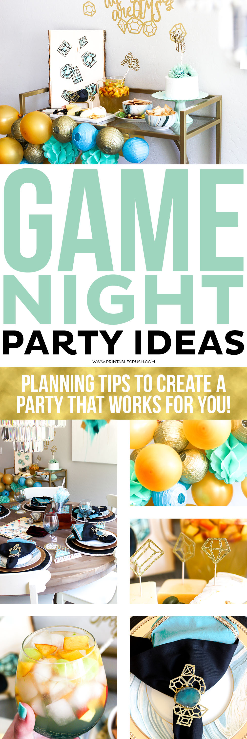 Game Night Party Details and Tutorials - Printable Crush