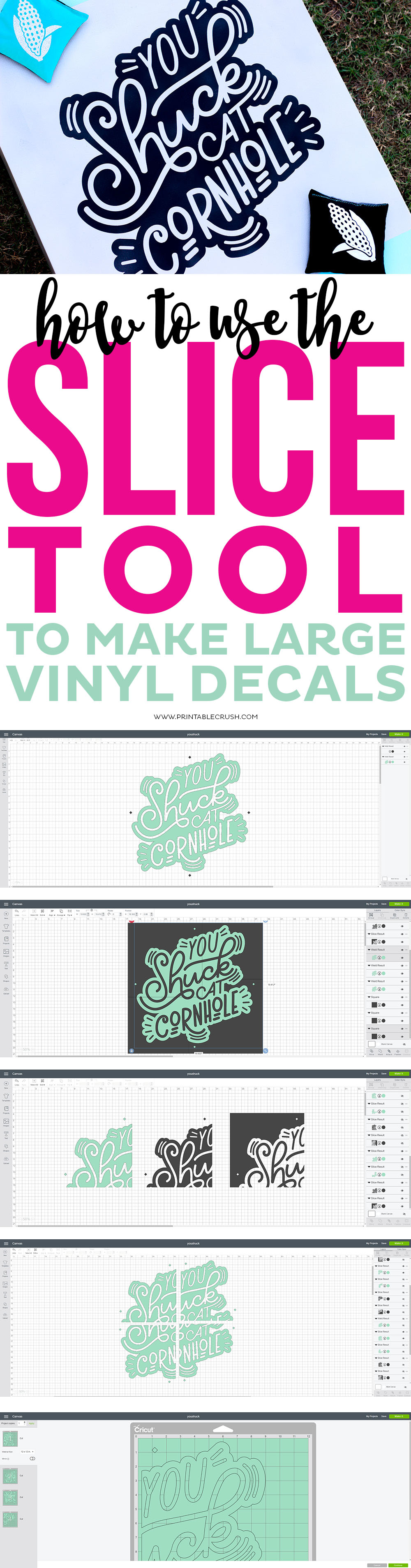 How to Use the Slice Tool to Make Large Vinyl Decals via @printablecrush