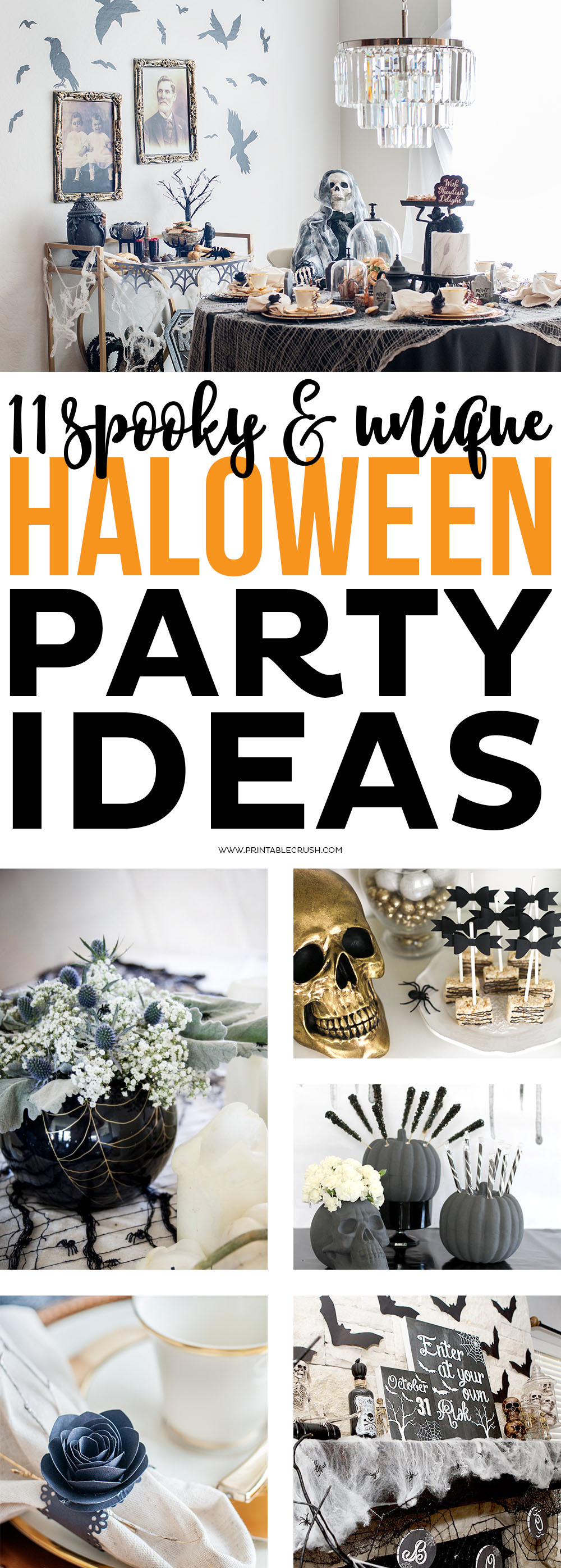 If you are planning on hosting a Halloween party this year, check out these 11 Scary & Unique Halloween Party Ideas for both kids and adults! via @printablecrush