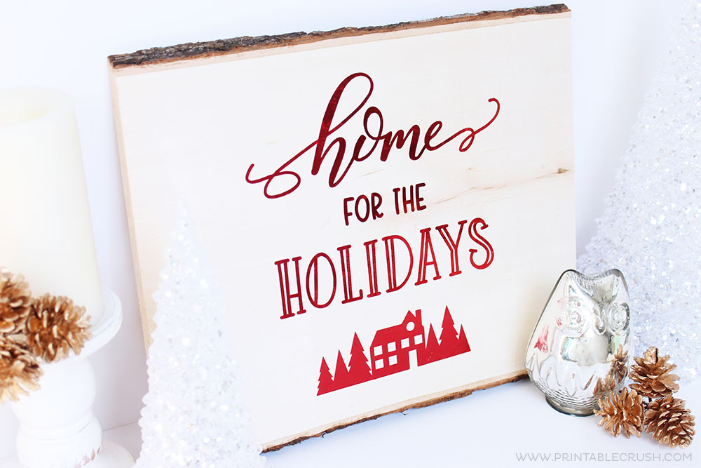 Use thisHand Lettered FREE Christmas SVG File to create home decor, t-shirts, ornaments, and more! This tutorial will also show you how to use the EasyPress on wood!