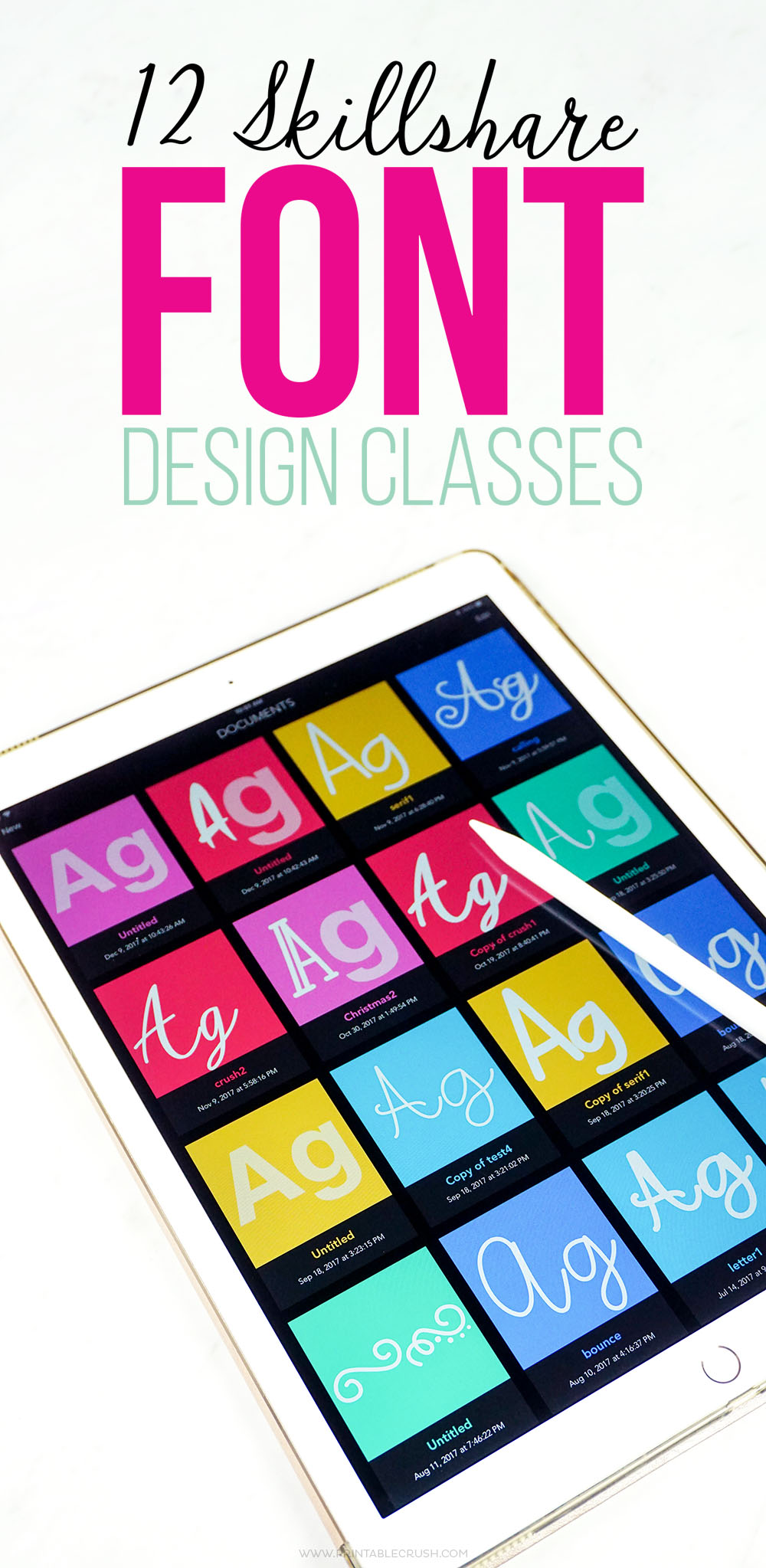 If you'd like to learn to create your own fonts, take these 12 Skillshare Font Design Classes!