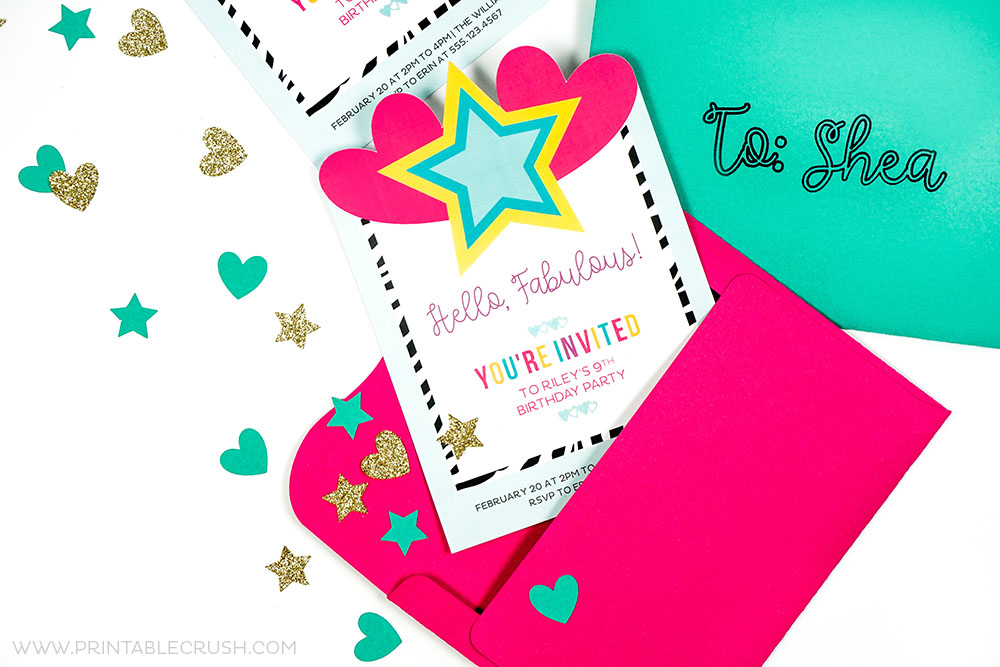 Brightly colored invitations and envelopes for invitation design post