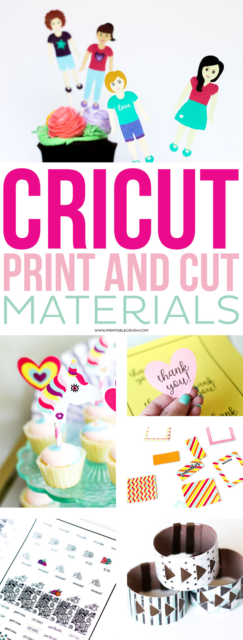 There are so many Cricut Print and Cut Materials you need to explore! This is such a great feature and will make you love your Cricut Maker more than you already do! via @printablecrush
