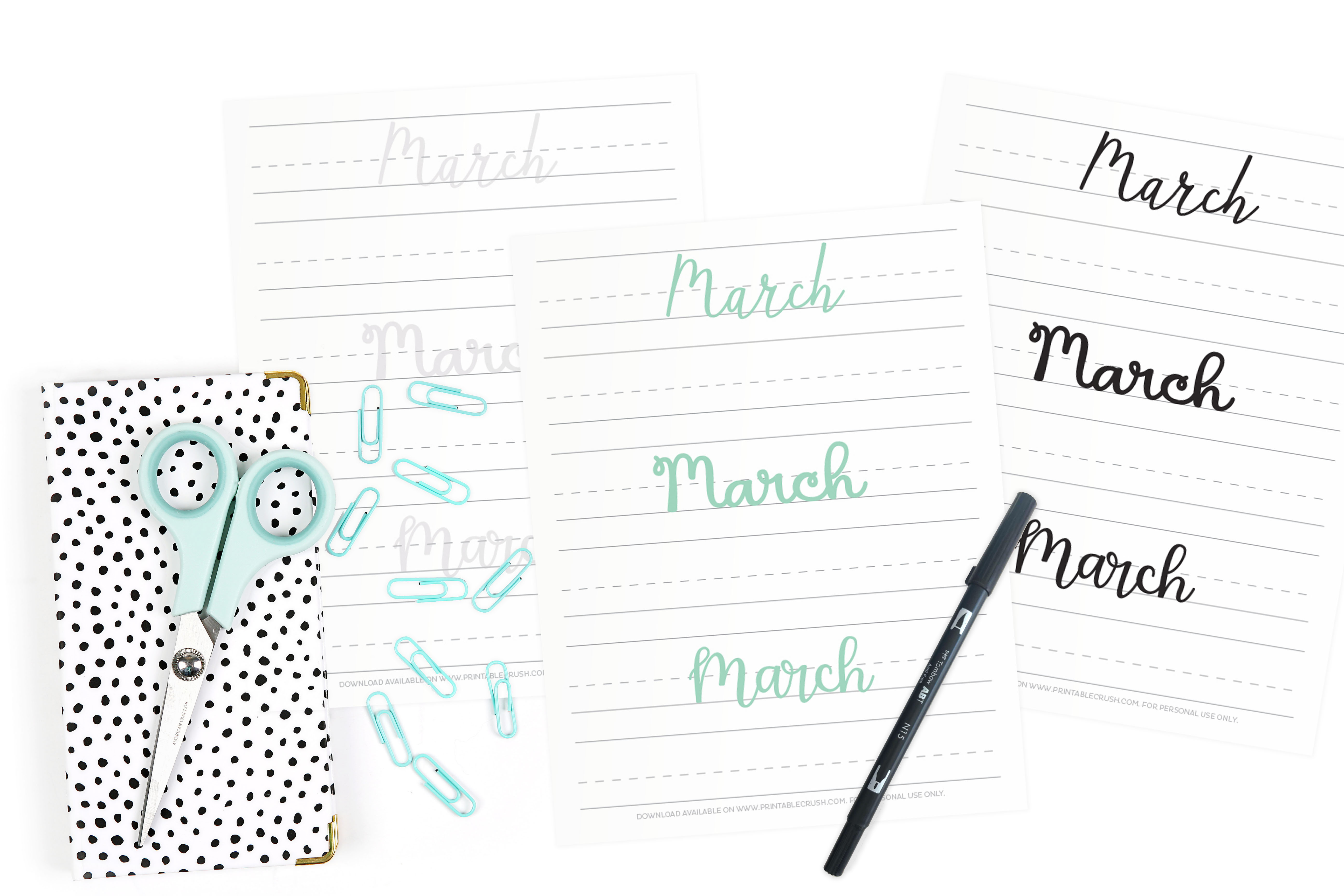 Start to learn hand lettering with these March Hand Lettering Prompts.