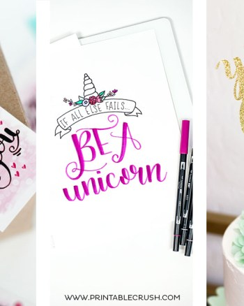 If you love lettering and you have a sense of humor, you'll love these 8 FREE Funny Hand Lettering Printables and Files. You'll find lettering practice sheets, SVG Files, free printables, and more!